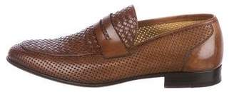Magnanni Woven Leather Penny Loafers
