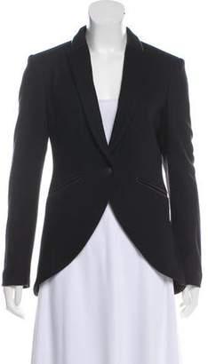 Rag & Bone Leather Trimmed Wool Blazer