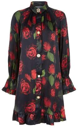 Mother of Pearl Esme Floral Silk Dress