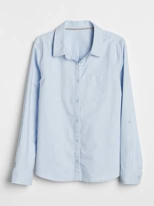 Gap Uniform Oxford Convertible Shirt