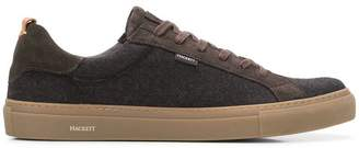 Hackett panelled lace-up sneakers