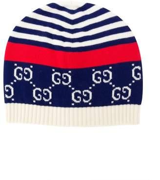 Gucci Kids contrast beanie hat