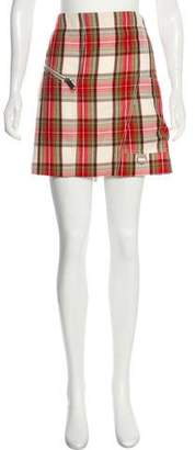 Burberry Wool Plaid Skirt