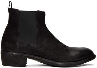 Officine Creative Black Ponti 002 Chelsea Boots