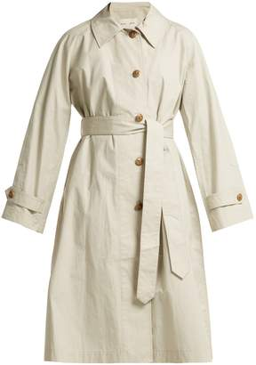 PSWL Single-breasted cotton trench coat