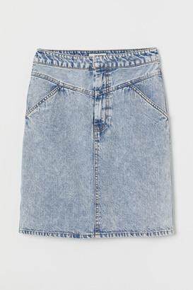 5f425ed2b5 Knee Length Denim Skirt - ShopStyle UK