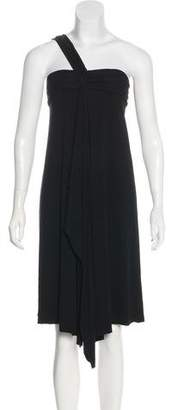 Armani Exchange One-Shoulder Midi Dress