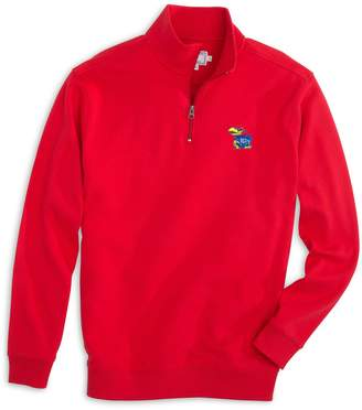 Southern Tide Kansas Jayhawks Cotton Quarter Zip Pullover