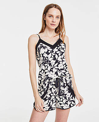 Ann Taylor Floral Cami Pajama Set