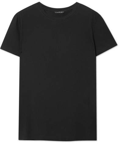 TOM FORD - Cotton-jersey T-shirt - Black