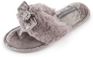 Pretty You London Amelie Toe-Post Slippers