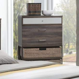 ACME Furniture Adrianna Walnut Finish Chest with Three Drawers