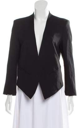 Helmut Lang Collarless Cropped Blazer