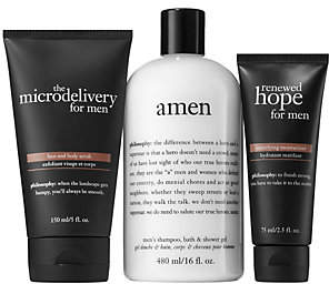 philosophy Gift Your Man Scrub, Moisturizer & Shower Gel Trio