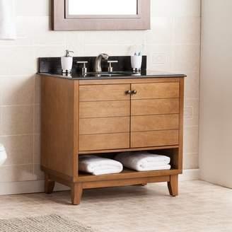 ... Wildon Home Reading 34 Single Bath Vanity Sink With Granite Top
