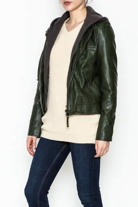 Cielo Hooded Vegan Leather Jacket