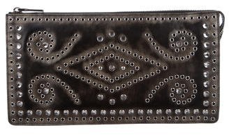 prada Prada Embellished Leather Clutch