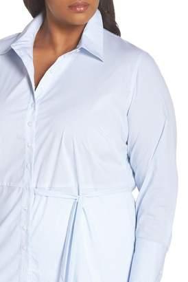 Sejour Asymmetrical Button Front Shirt (Plus Size)