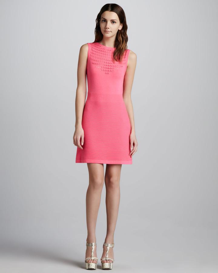 Nanette Lepore Artistic Patterned Knit Dress
