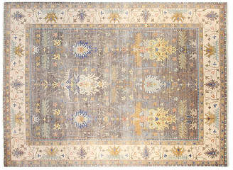 F.J. Kashanian 9'x12' Sari Michelle Hand-Knotted Rug - Gray/Tan