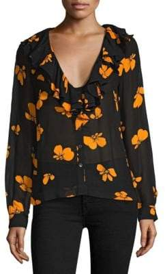 Ganni Fairfax V-Neck Blouse