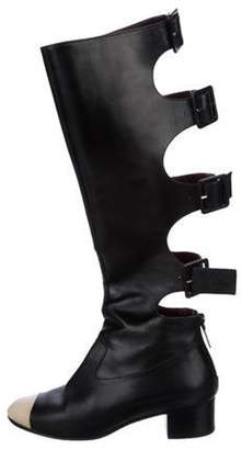 Chanel CC Cap-Toe Buckle Boots Black CC Cap-Toe Buckle Boots