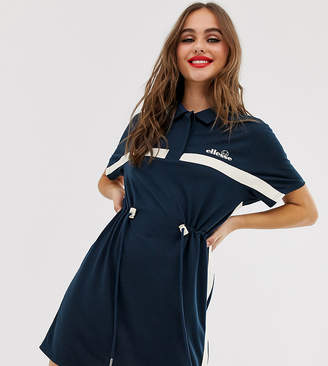 Ellesse recycled utility dress with drawcord waist and contrast stripe