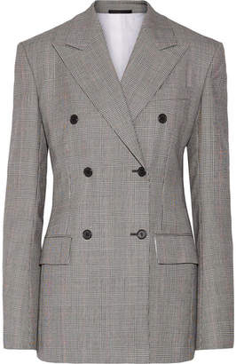 CALVIN KLEIN 205W39NYC - Double-breasted Houndstooth Wool Blazer - Black