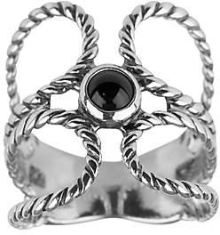 American West Sterling Silver Gemstone O-Design