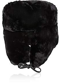 Crown Cap Men's Fur Trapper Hat-Black