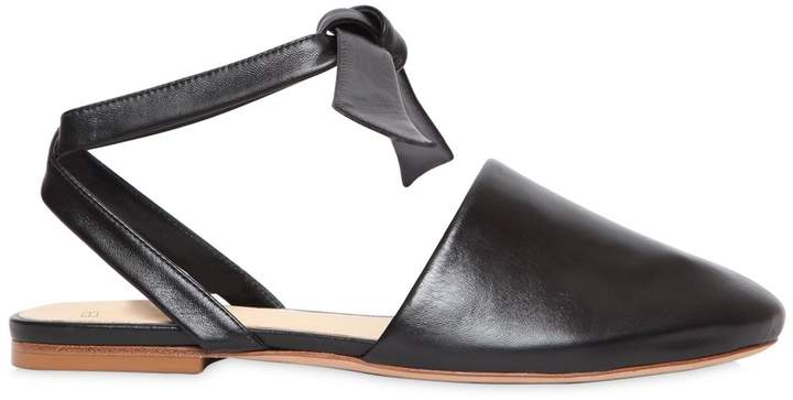 Alexandre Birman 10mm Leather Mules With Ties