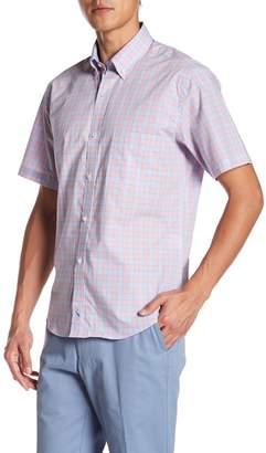 Tailorbyrd Plaid Short Sleeve Woven Shirt