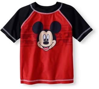 Trunks Mickey Mouse Toddler Boys' Rashguard Swim Top