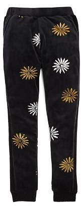 Splendid x Margherita Girls' Metallic-Daisy Velour Jogger Pants - Big Kid