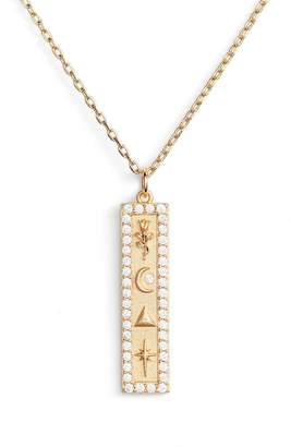 Lulu DK x We Wore What Vertical Bar Pendant Necklace