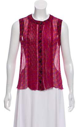Anna Sui Sleeveless Printed Top