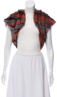 Ramy Brook Faux Fur Cropped Vest w/ Tags