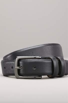 Next Mens Black Leather Belt