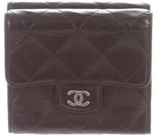 Chanel Quilted Small Compact Wallet Black Quilted Small Compact Wallet