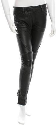 AllSaints Low-Rise Leather Pants $125 thestylecure.com