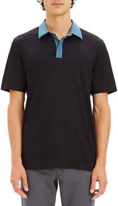 Theory Men's Incisive Contrast-Trim Polo Shirt