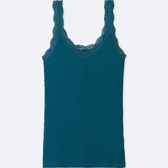 Uniqlo Women's 2-way Ribbed Lace Tank Top