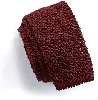 Todd Snyder Classic Knit Silk Tie in Maroon