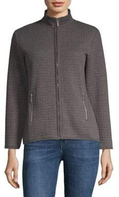 Karen Scott Petite Quilted Fleece Jacket