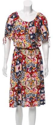 Nieves Lavi Floral Print Midi Dress
