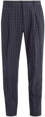 Acne Studios Boston checked linen trousers