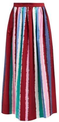 Le Sirenuse Le Sirenuse, Positano - Jane Striped Cotton Midi Skirt - Womens - Multi