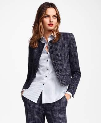 Brooks Brothers Plaid Tweed Cropped Jacket