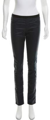 Helmut Lang HELMUT Mid-Rise Leather Pants