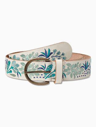 Lucky Brand FLORAL EMBROIDERED BELT
